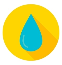 Water drop circle icon vector