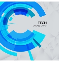 Abstract blue technical triangle background with vector image vector image