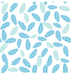 beautifil palm tree leaf silhouette seamles vector image