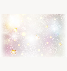 christmas stars and snowflake background vector image vector image