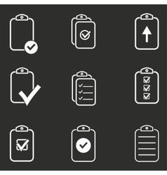Clipboard icon set vector