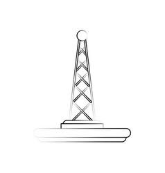 communication radio antenna vector image
