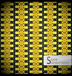 Flower golden row bow ribbon vintage geometric vector