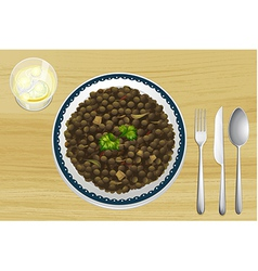 Food on a tabl vector image vector image