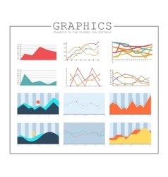 Infographics collection design elements vector image