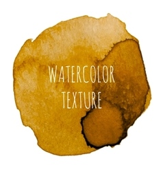Ocher Watercolor Background vector image vector image