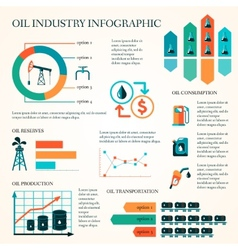 Oil production infographics vector