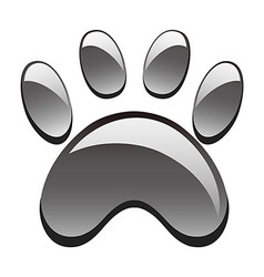 paw print vector image vector image