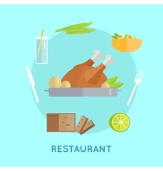Restaurant food conceptual vector