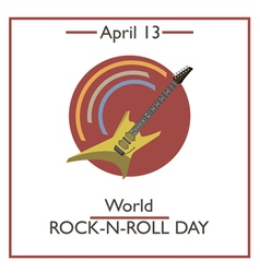 Rock n roll day vector