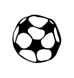 Soccer ball football doodle style sketch hand vector