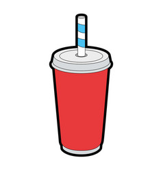 soda palstic cup vector image