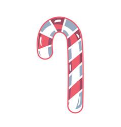 sweet walking stick christmas decoration vector image