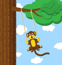Swinging monkey vector image vector image