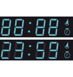 the display a digital clock vector image vector image