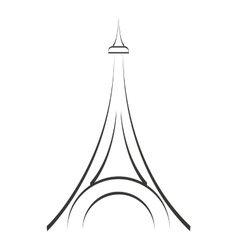 tower eiffel structure icon vector image