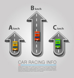 traffic road with cars road arrow location vector image vector image