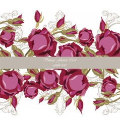 Watercolor Roses Flowers Card vector image vector image