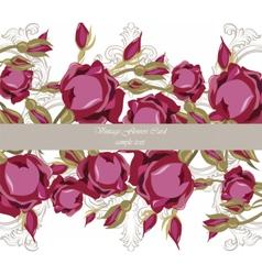 Watercolor roses flowers card vector
