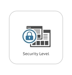 Security level icon flat design vector