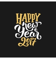 New year 2017 greeting card with calligraphy vector