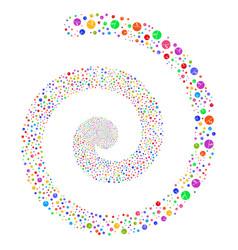 Pharmacy tablet fireworks spiral vector