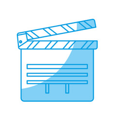 Cinema clapboard icon vector