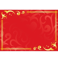 red and golden frame vector image
