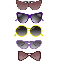 solar glasses vector image