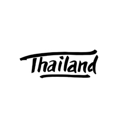 Thailand hand drawn lettering vector