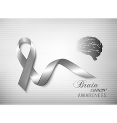 Brain cancer awareness ribbon vector