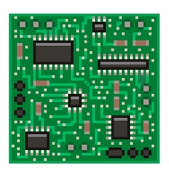 Pixel microchip isolated vector