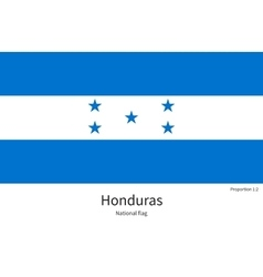National flag of honduras with correct proportions vector