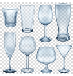 Empty glasses and stemware vector