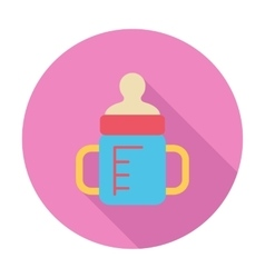 Feeding bottle flat icon vector