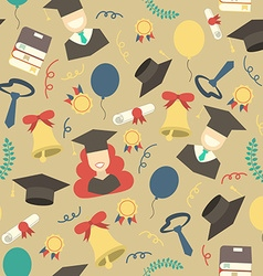 Graduation elements seamless pattern background vector