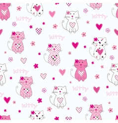 Seamless pattern with cat vector