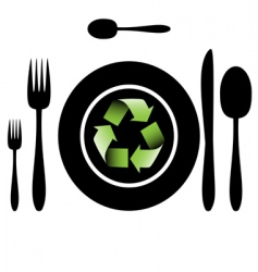 bio food recycle vector image