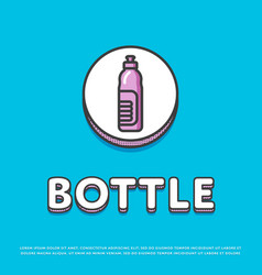 bottle colour icon in line design vector image vector image