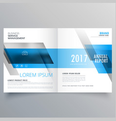 Business magazine cover template layout with blue vector