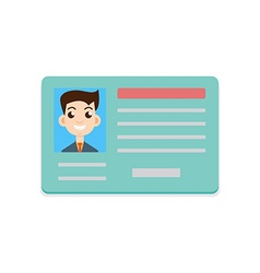 Car driver license icon vector