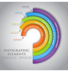 Circle infographic graphic design vector