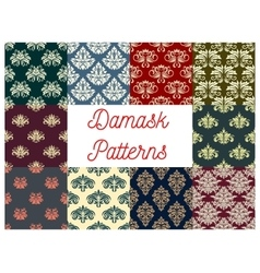 Damask floral seamless pattern of victorian flower vector