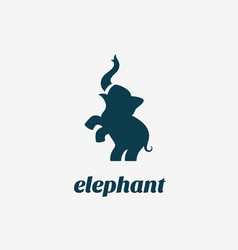 elephant logo vector image vector image