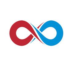 endless infinity loop conceptual logo special vector image