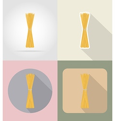 Food objects flat icons 14 vector