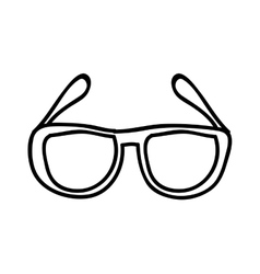 glasses drawing isolated icon design vector image