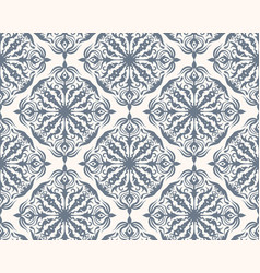 Grey and white seamless pattern with floral and vector