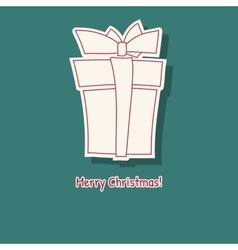 Hand drawn sketch of box gift vector image