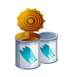 icon can vector image vector image